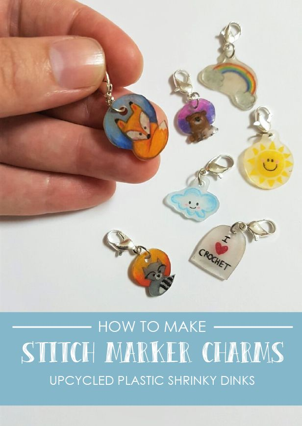 Lovely little stitch markers made with upcycled plastic