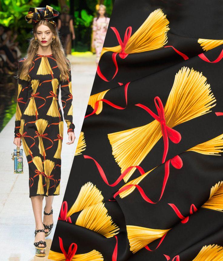 Ткани, используемые в моделях Dolce&Gabbana. Летние наряды из шифона и атласа, коттона и штапеля