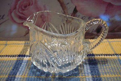 GLASS MILK JUG OR CREAMER - ART DECO STYLE VINTAGE PRESSED - THICK HEAVY PATTERN | eBay
