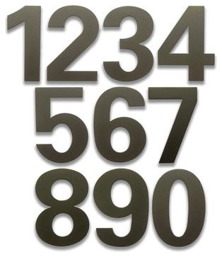 bFuller Dark Bronze House Numbers contemporary-house-numbers