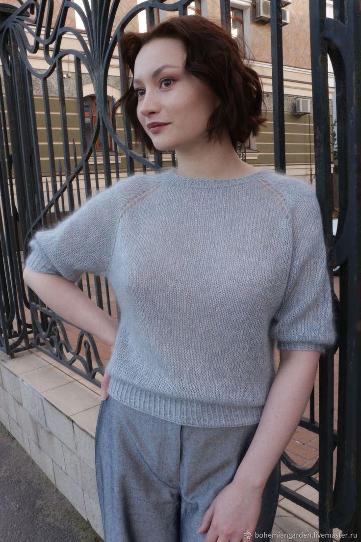 свитер из кид мохера спицами фото зрелая дама