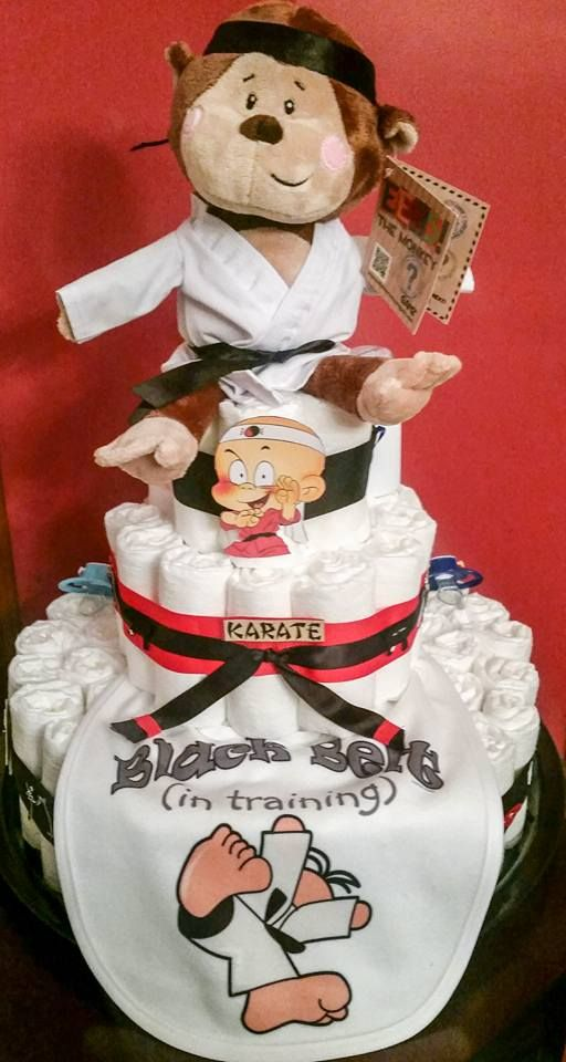 Karate diaper cake Creative Baby Cakes by Kelly