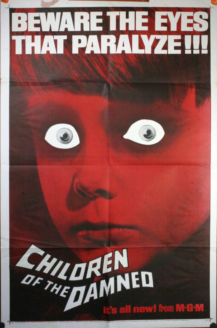 vintage horror movie posters | THE DAMNED, 1964 . Original Advance 1 Sheet (27″/41″) Movie Poster ...