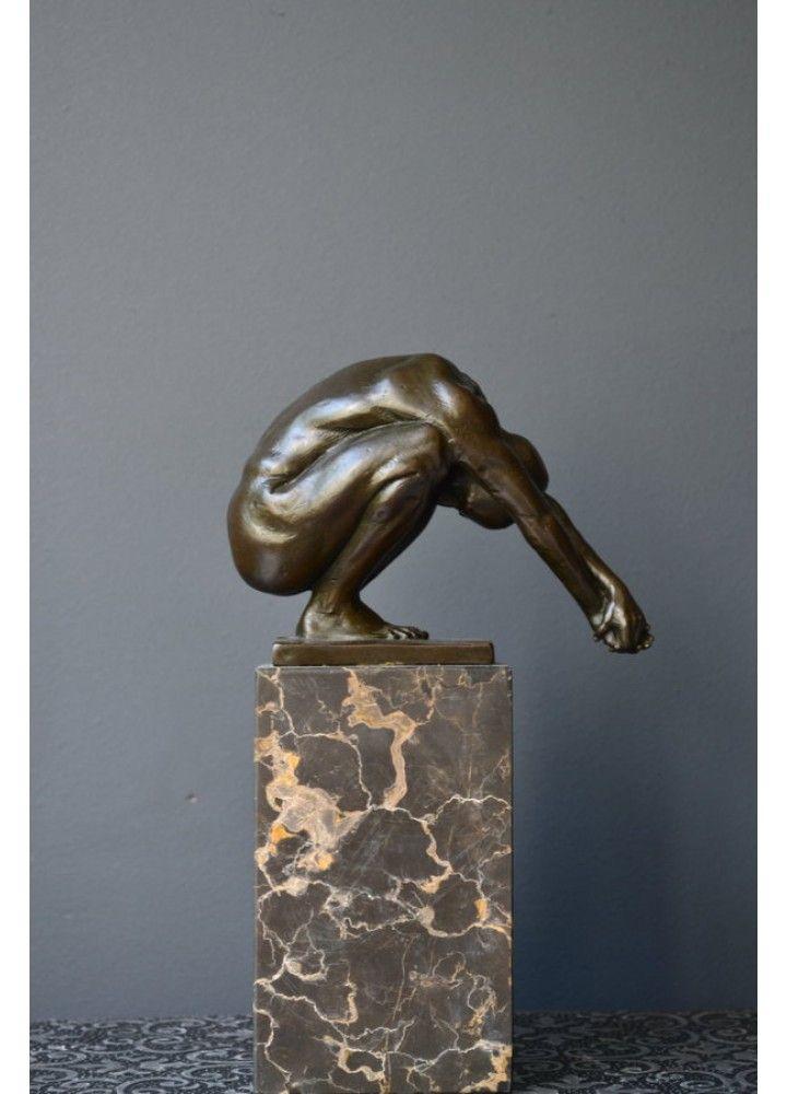 Bronzen Beeld Human Strength 25 cm