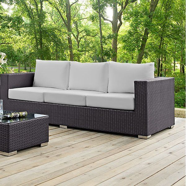 Gather stages of sensitivity with the Convene outdoor sectional series. Made with a synthetic rattan weave and a powder-coated aluminum frame, Convene is a versatile outdoor collection that shifts and combines according to the spontaneous needs of the moment. Outfitted with all-weather fabric cushions, leave a positive impression on friends and family while enhancing your patio, backyard or poolside repast in this series of palpable distinction. This installment of the series is an outdoor…