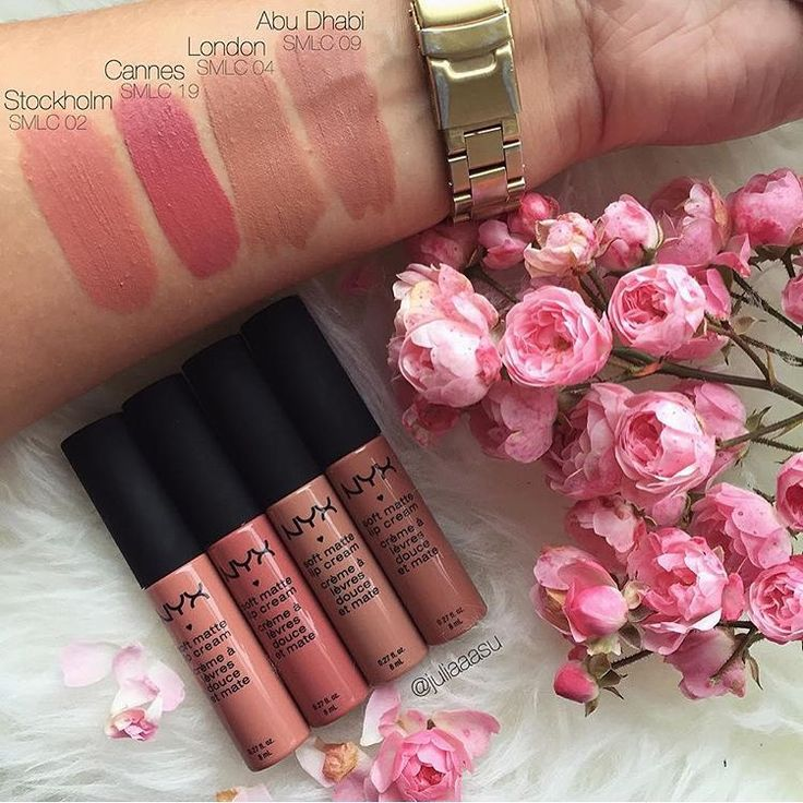NYX Soft Matte Lip Cream swatches: rome, cannes, Stockholm, or zurich I wanna try...