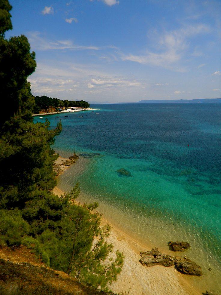 One of the beautiful beaches in Bol, Croatia