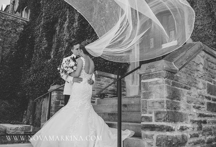 Veil Blowing in the Wind || Wedding Photography Inspiration || NovaMarkina Photography || See more of this Liuna Station Wedding here: http://www.novamarkina.com/blog/liuna-station-wedding-photography-k-a