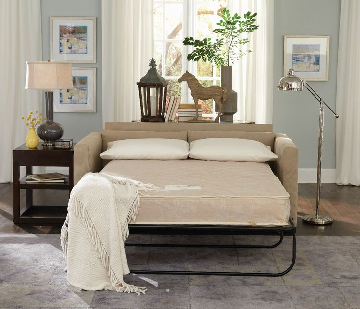 "Small Sofa Bed -Christy Pull Out Sofa Bed - Fits through any opening of 16"" or larger. Available in Full or Queen Mattress Perfect for RV's"