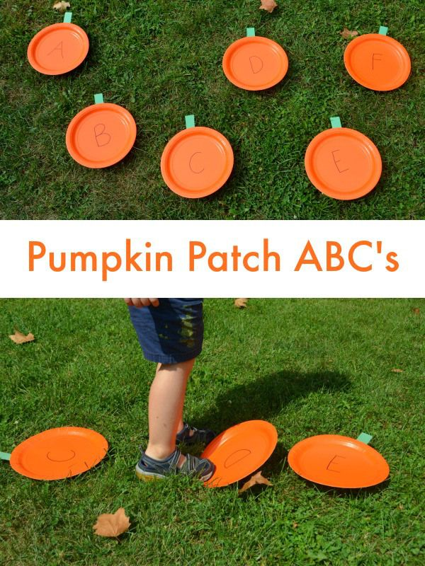 Pumpkin Patch ABC's - fun way to move and practice learning letters!