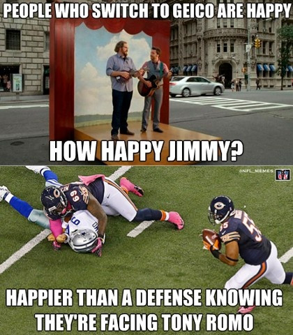 I do love a good football joke. especially at Romo's expense.why can't we just get rid of him