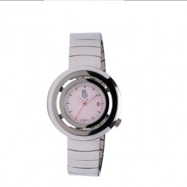 Pink face watch for the romantic, sporty girl in your life.