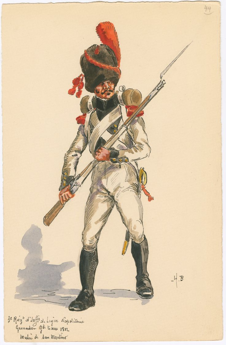 Kingdom of Naples; 3rd Line Infantr, Grenadier Full Dress 1812 by H.Boisselier.