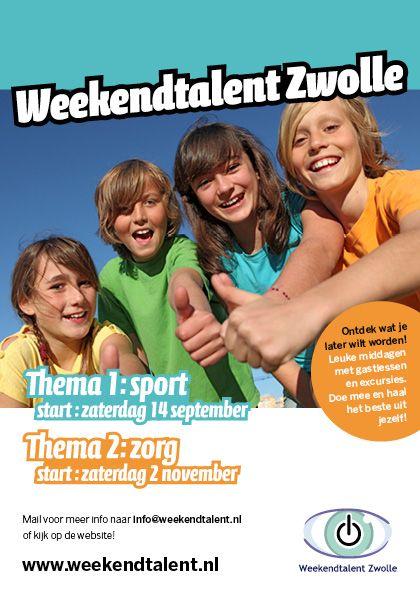 Komende zaterdag, 14 september, start het seizoen van Weekendtalent Zwolle!