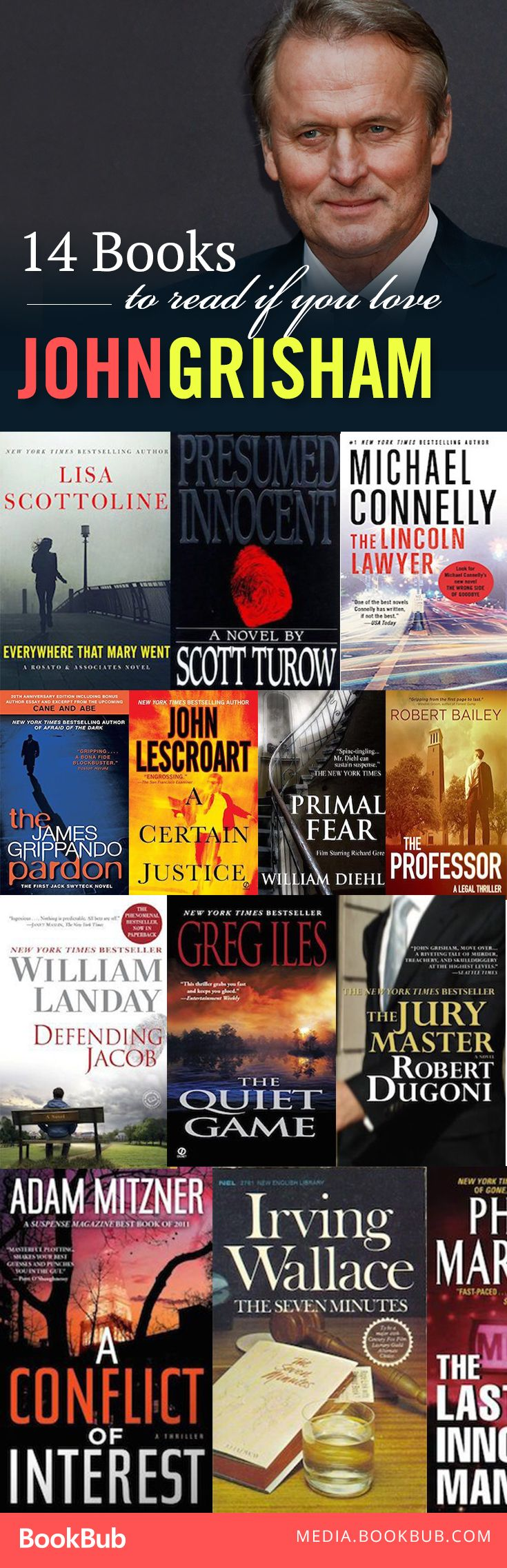 14 books to read if you love John Grisham. Thriller readers: these are for you!