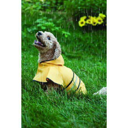 Fashion Pet Rainy Days Slicker Dog Yellow Raincoat #dogs #raincoats #yellow #fashion