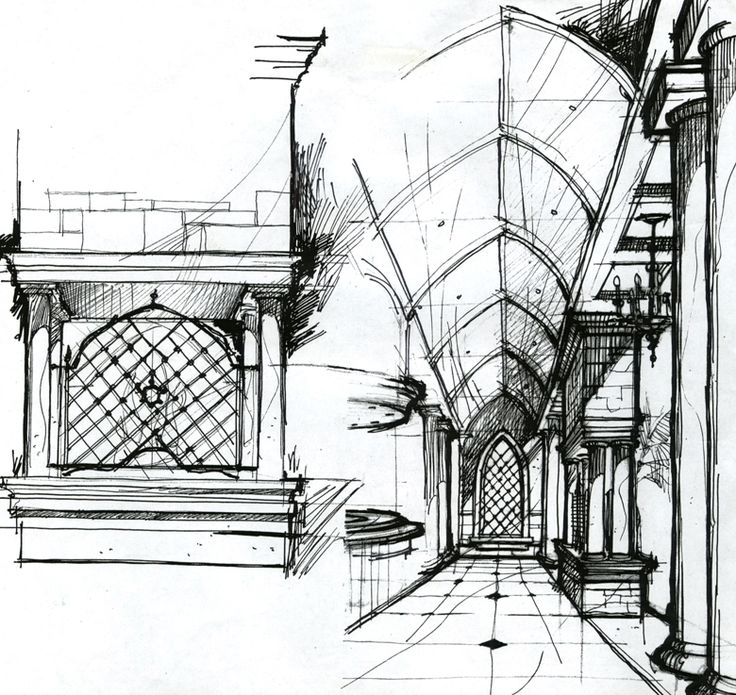 interior design sketch by dm