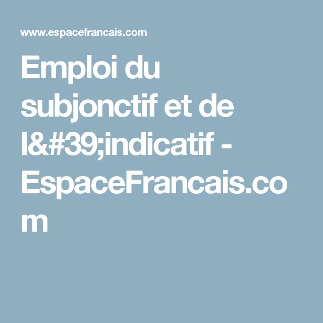emploi du subjonctif passe pdf