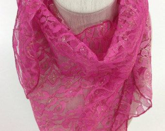 Pink lace Scarf, Gift for Cancer patient, Holiday Gift, Reversible head scarf, Gift for girl Mom Gift for Nurse Hip scarf for teenager by blingscarves. Explore more products on http://blingscarves.etsy.com