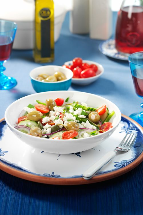 GREECE -  Greek salad, #Oil & Vinegar, #Greece, #Recipes