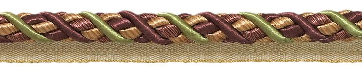 """Large PLUM OLIVE GREEN Baroque Collection 7/16"""" Cord with Lip Style# 0716BL Color: PLUM OLIVE – 7346 (Sold by The Yard)"""