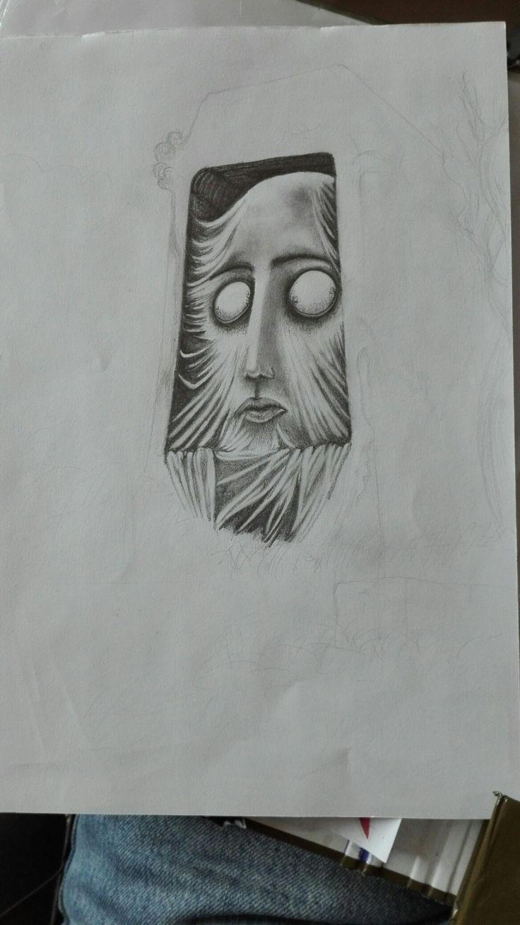 Trying myself with Beksiński's art