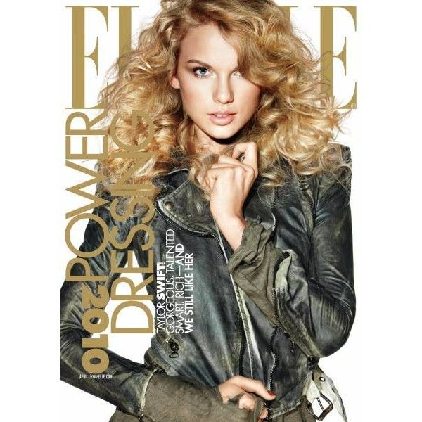 Taylor Swift Elle Magazine April 2010 Cover Pics ❤ liked on Polyvore featuring taylor swift, magazine, people, backgrounds, models and magazine cover