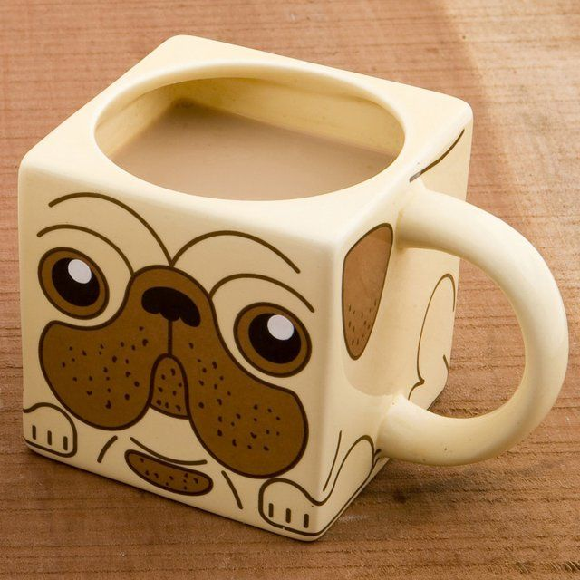 This cute coffee mug imprinted with a cute face of the pug that lets you to remember your adorable pet whenever you enjoy the coffee with it. You can also carry it to anywhere as if you don't miss the cute face of your beloved pug when you drink. This is undoubtedly a great gift for pug lovers and of course it will bring smile on your face when it will be your drinking companion.