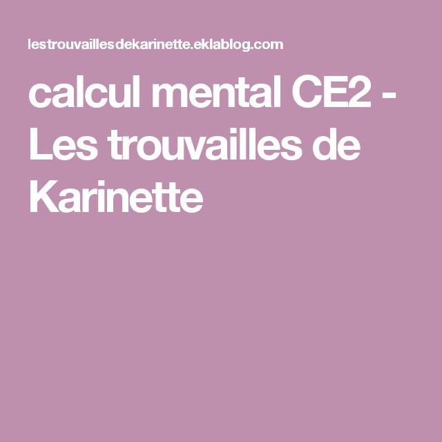 calcul mental CE2 - Les trouvailles de Karinette