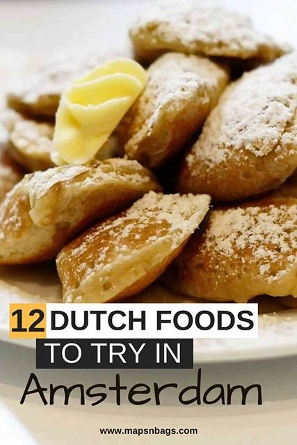 The best Dutch food you can eat in Amsterdam! The Netherlands has many delicious foods to offer and you should definitely include them in your next travel to Holland. Read further to get to know the most famous Dutch savories and sweets, including the famous Gouda Cheese. Check it out! #amsterdam #food #snacks #netherlands #travel #typicalfood