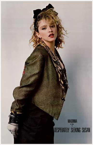 """Madonna is """"Susan"""" in the 1985 comedy movie Desperately Seeking Susan! A great poster from the 80's classic. Ships fast. 11x17 inches. Need Poster Mounts..?"""
