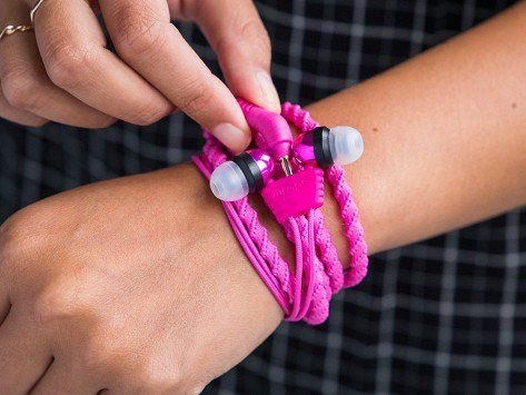 Wraps makes tangle-free headphones, discovered by The Grommet, that can be worn like a bracelet—people will never suspect with their stealthy design.