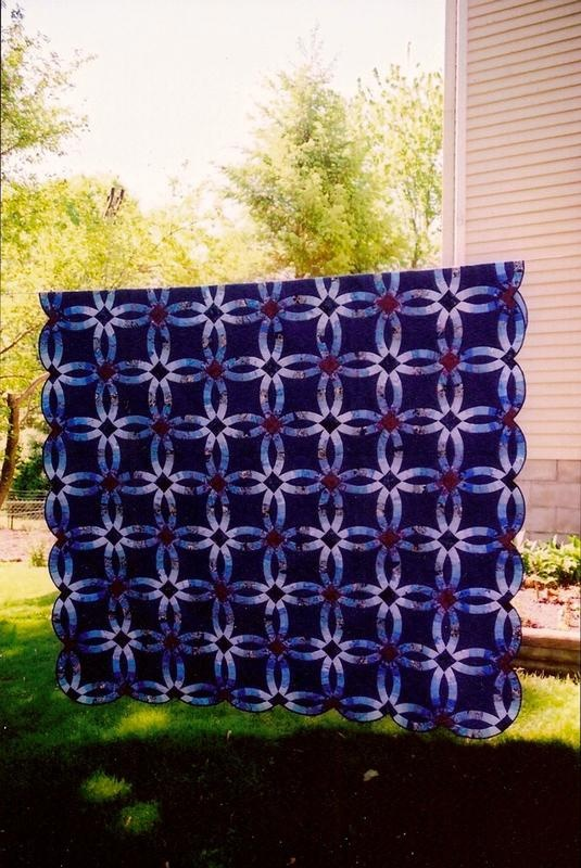 63 best Wedding ring quilts images on Pinterest Wedding ring quilt