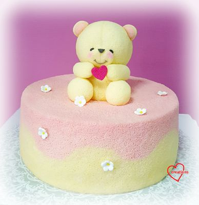 Loving Creations for You: Forever Friends Bear Yuzu Chiffon Cake