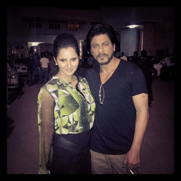 with Sania Mirza, tennis player? and big fan of SRK