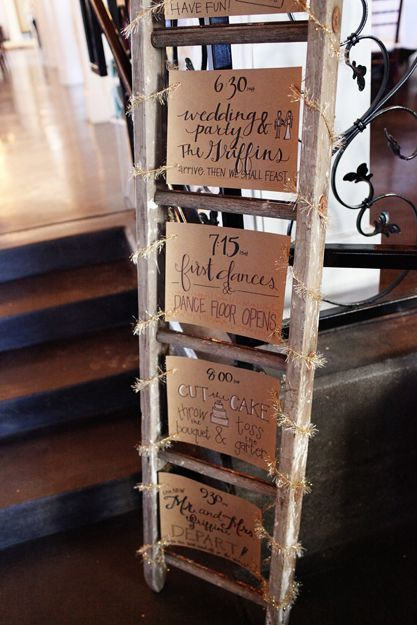 using the ladder to display favorite quotes andor family photos