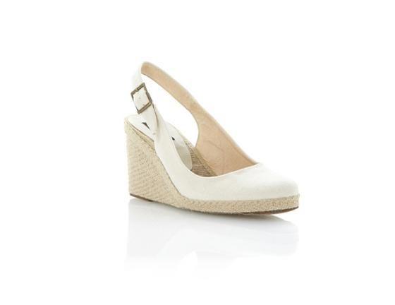 DUNE IMPERIA D, Neutral Espadrille Wedge | Dune Shoes Online