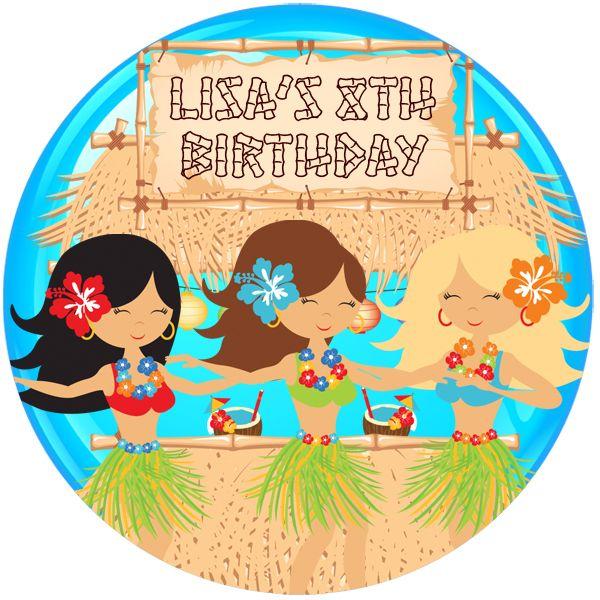 Aloha Personalised Birthday Party Badge #917