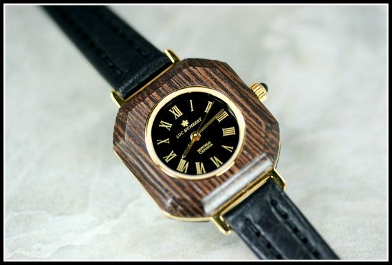 Unique wood watch Women watches gold Square by HUMBERTcreations