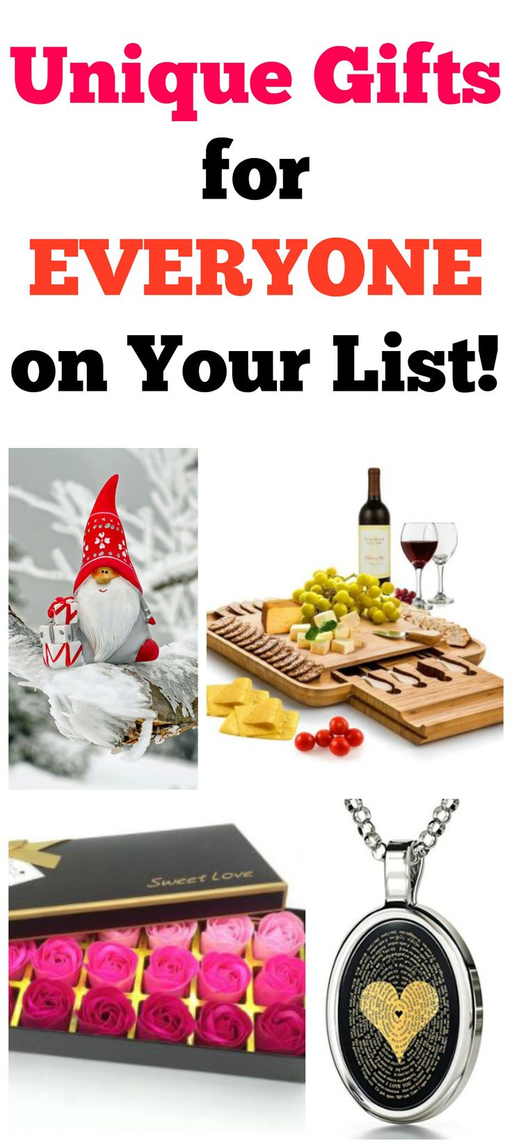 If unique gifts are what you're after, you've come to the right place! Check out the list for great #gifts for everyone on your list! #christmas #christmasgifts
