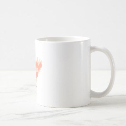#Cute Coral Chevron Pig Coffee Mug - #office #gifts #giftideas #business