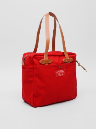Filson Red Label Zipped Tote Red | Present London
