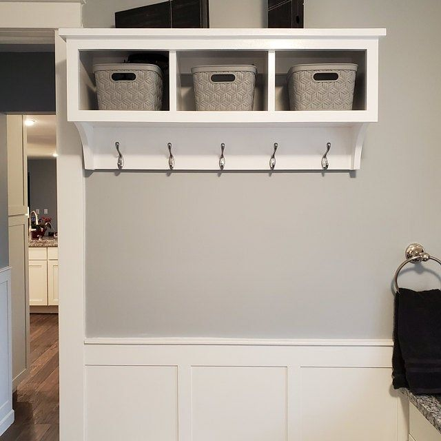 Mudroom Bench And Wall Hanging Storage Cubby Shoe And Boot Bench With Entryway Storage Shelf With Coat Hooks In 2020 Entryway Storage Shelf Wall Hanging Storage Entryway Storage