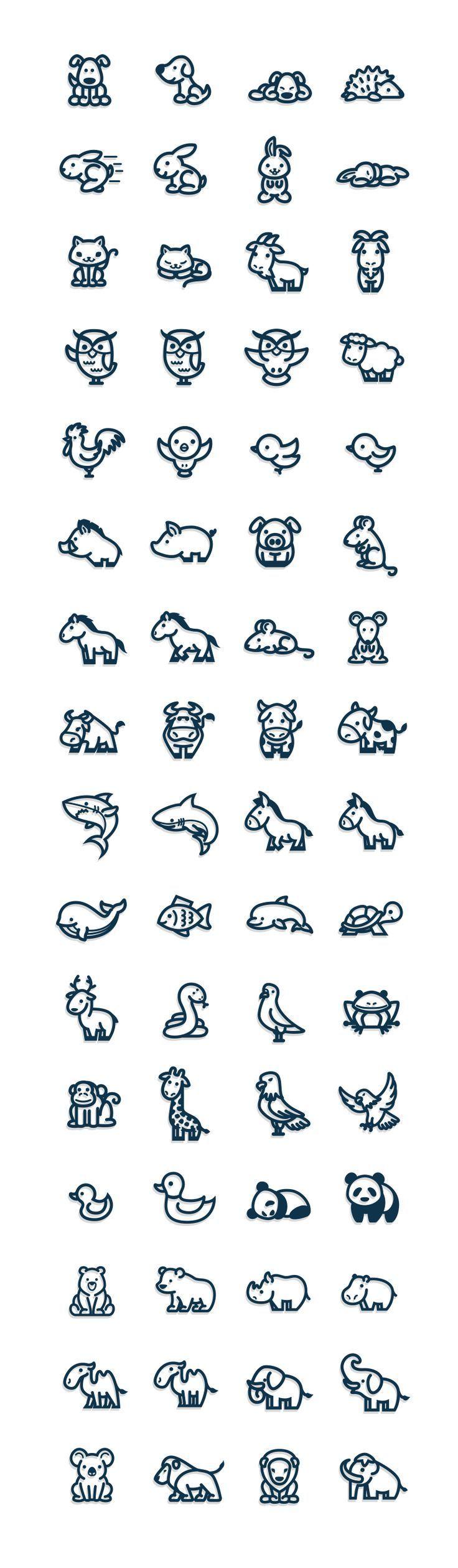 simbolos pequenos desenhos   animais 8