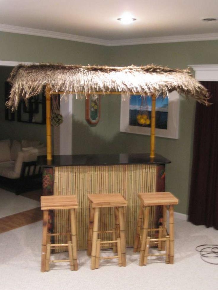 tiki bar from PVC pipes   DIY