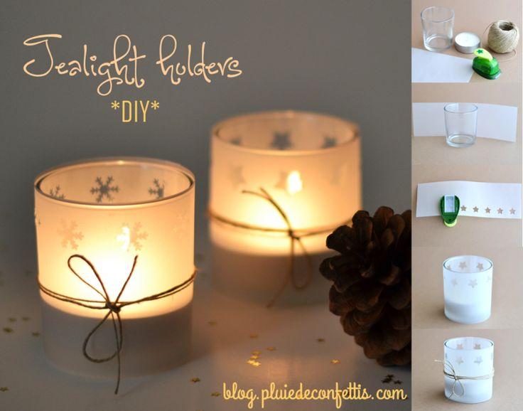 Christmas tealight holders DIY on blog.pluiedeconfettis.com