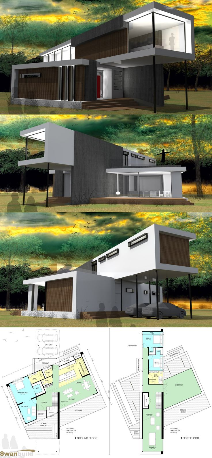 Cube 2 Compact Design By Swanbuild These New Designs Are Away From The  Traditional Built Home