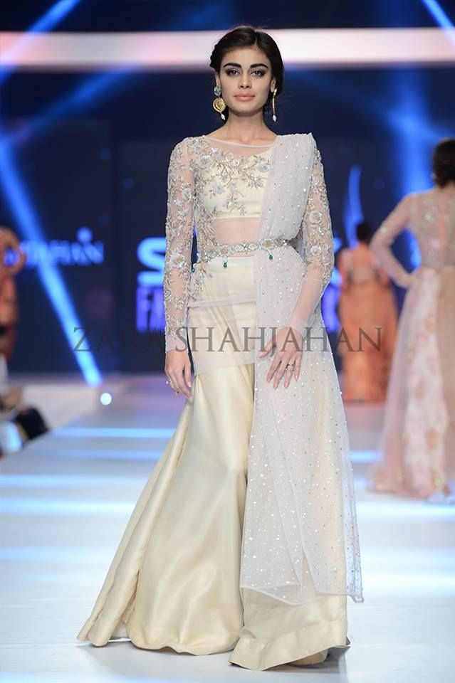 Zara Shahjahan showcased New Vintage at PFDC Sunsilk Fashion Week 2015. A list of best dress designers in Islamabad, Karachi, Lahore, Peshawar and other cities of Pakistan only on Marridun.com