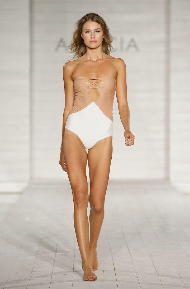Bikini catwalk model