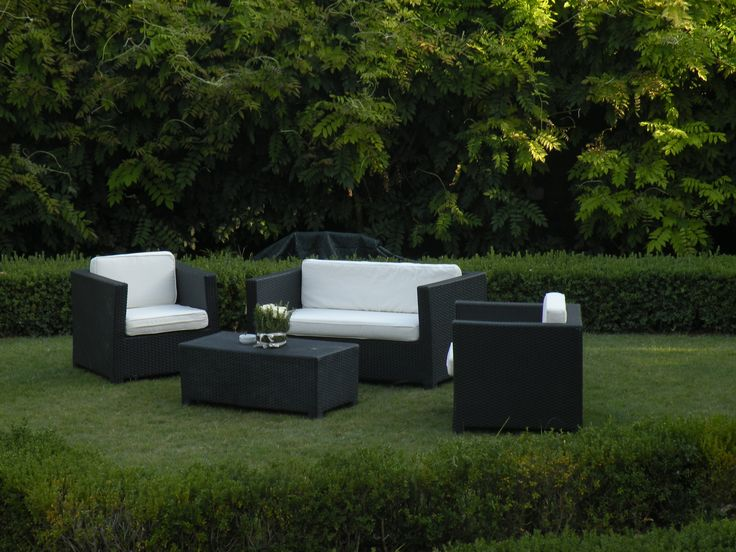 Black fusion Lounge or garden furniture / Salottino Fusion Nero per arredamento giardino o lounge #guidilenci All Rights Reserved GUIDI LENCI www.guidilenci.com
